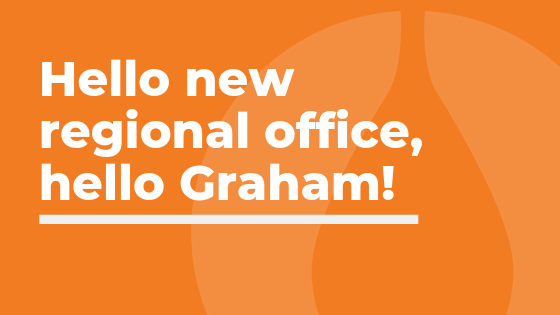 Hello new KNP office, hello Graham