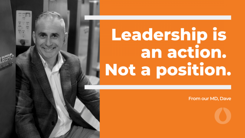 Leadership is an action not a position