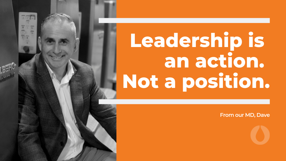 KNP Managing Director Dave Gibbons and leadership quote