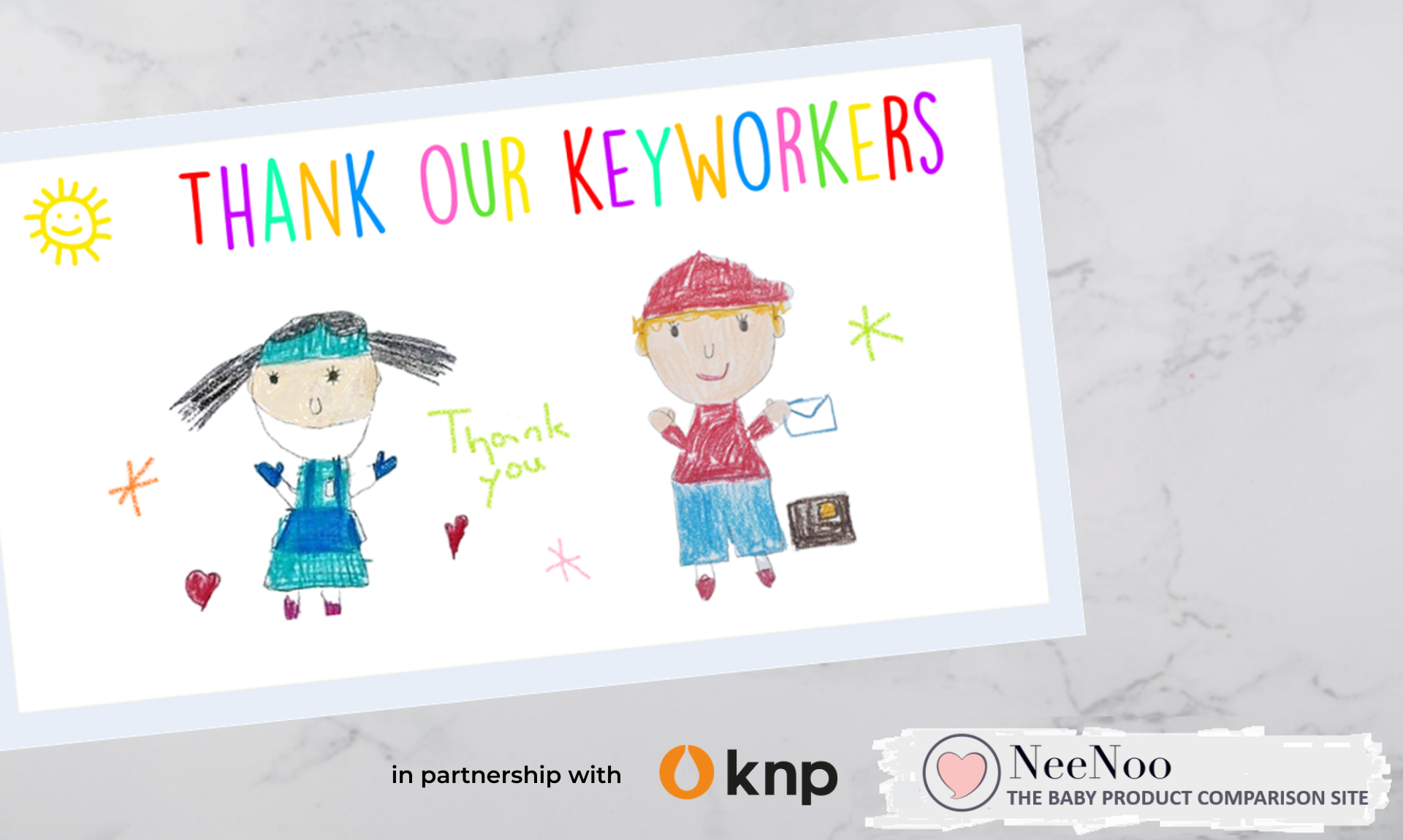 Thank Our Keyworkers postcard image