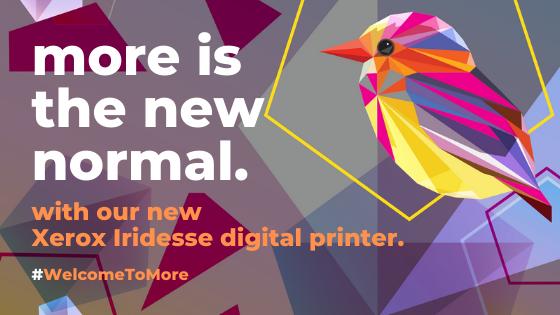 Xerox Iridesse printed multicolour bird
