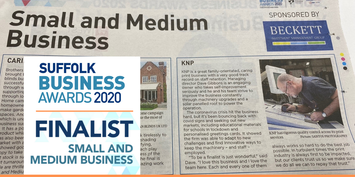 KNP | EADT Suffolk Business Awards 2020 Small & Medium Business Category